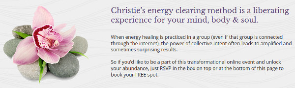 Unlimited Abundance Webinar Energy Clearing