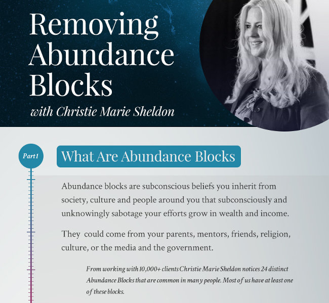 Unlimited Abundance Webinar Infographic by Christie Marie Sheldon