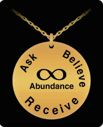 Unlimited Abundance Laser Engraved Gold Necklace